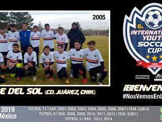 ¡Desde Ciudad Juárez, Chihuahua llega un gran equipo categoría 2005!