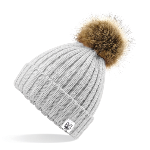 f56daddc613 Our chunky knit beanies are a must have this season. They are a sumptuous  heavy ribbed knit with a luxury faux fur pom pom (adults is removable).
