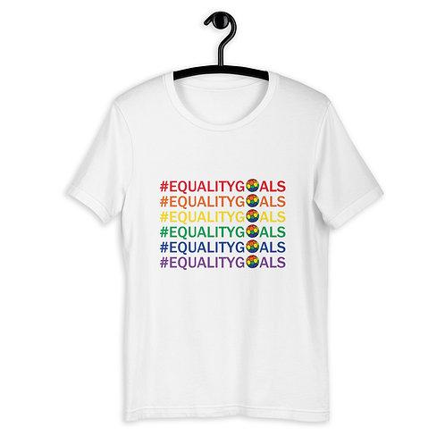 Equality Goals Hashtag LGBTQ+ Football T-Shirt