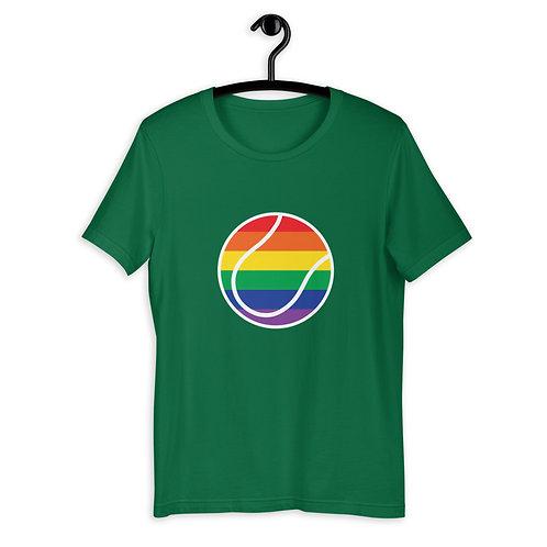LGBTQ+ Rainbow Tennis Ball Logo T-Shirt
