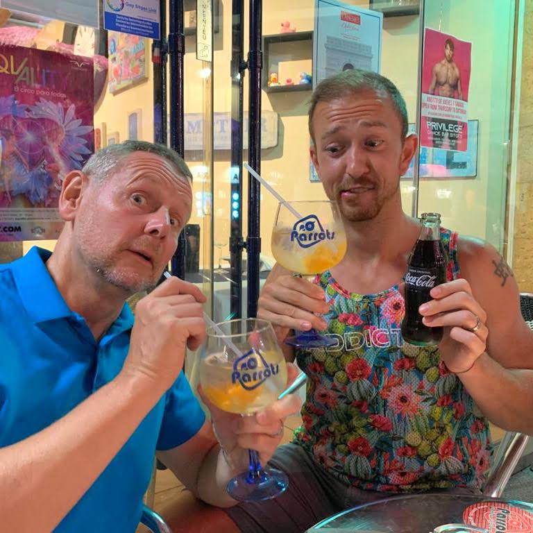 Age Gap Gay Couple at Cocktail Bar