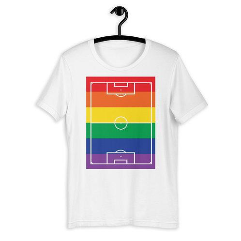 LGBTQ+ Rainbow Football Pitch T-Shirt