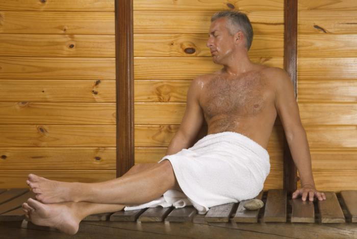 Gay older man sauna