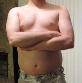 Dad Bod topless pic