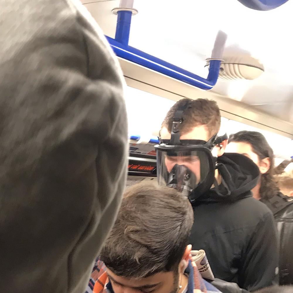 Man in Face mask to avoid Coronavirus