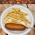 Corn Dog and Fries