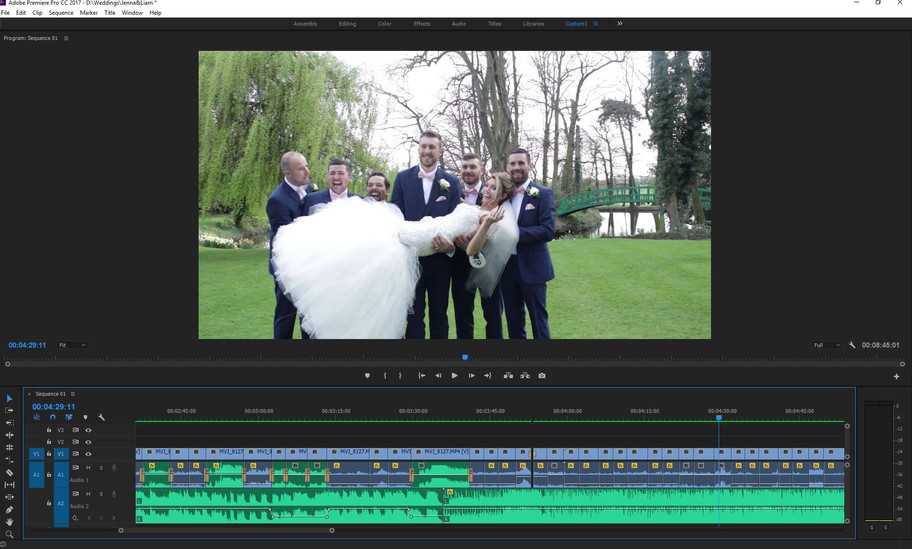 Just colour correction to go before Jenna & Liam's snapshot video is complete.