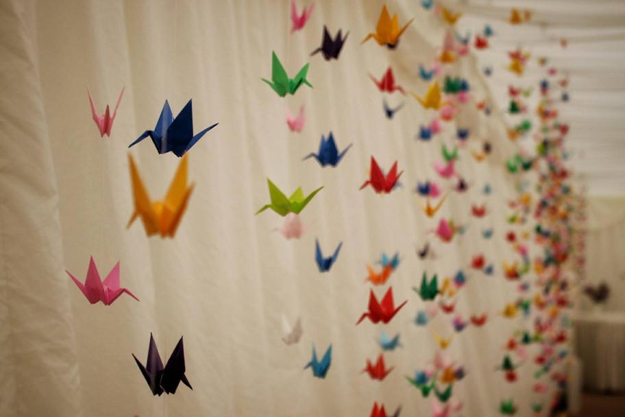 Never seen so many origami cranes!