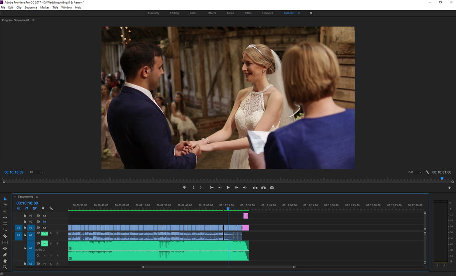 Late night editing session in order to complete the first cut of Abigail & Aarron's video.
