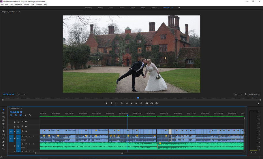 Onto the sound edit of Nicole & Mark's wedding video...