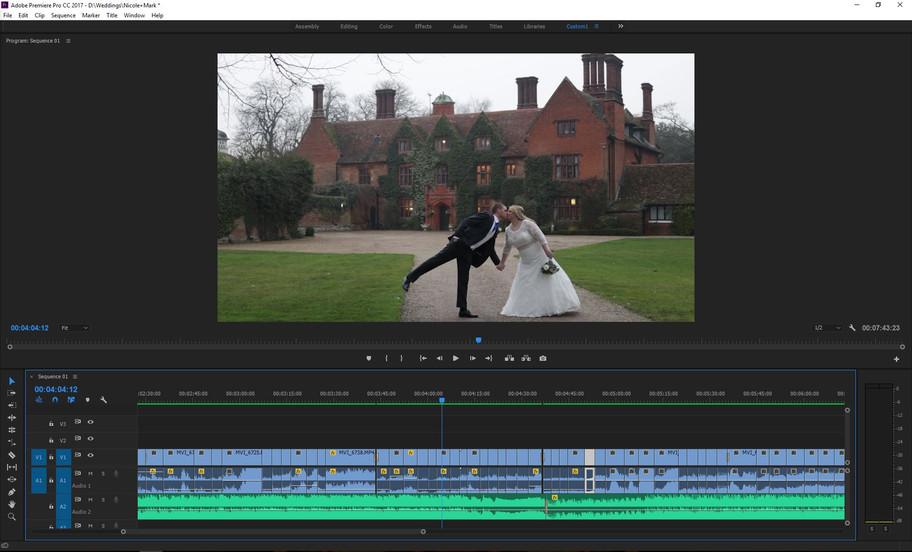 Onto the sound edit of Nicole & Mark's wedding video...