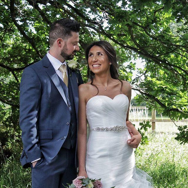 The sun is shining at the beautiful Blackthorpe Barn Weddings for Dani & Ben's wedding.