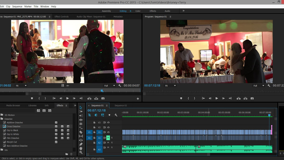 A lie in this morning after yesterday's wedding has led to a late night editing session, which h