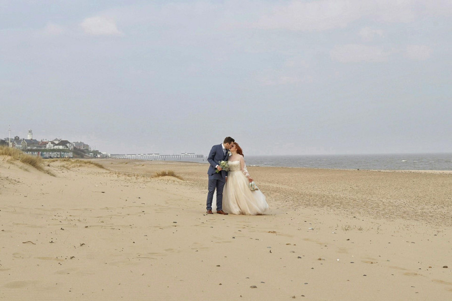 Beautiful day on the coast for Lucy & Max's wedding.