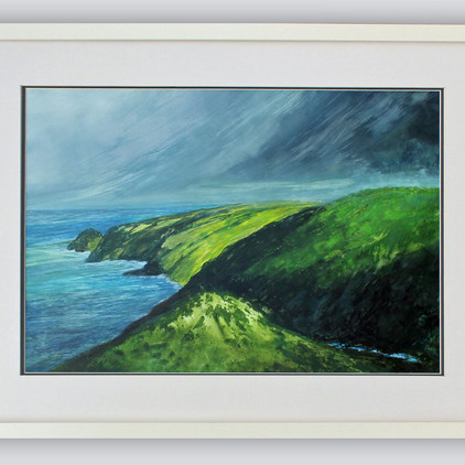 North Devon Coast Framed