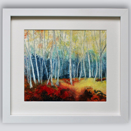 Birch Trees Framed