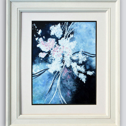 White Blossom Framed