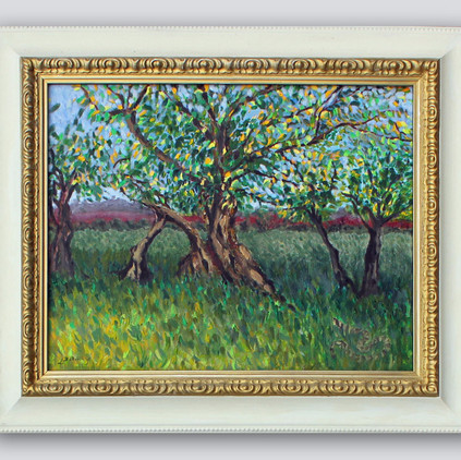 Trees In Provence Framed