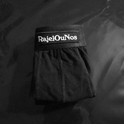Caleçon Noir en Coton Bio - RajelOuNos