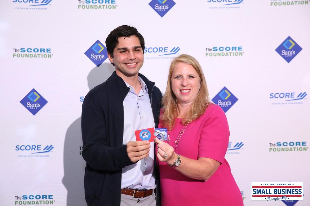 Accepting the Award in Dallas