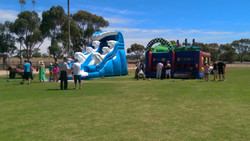 Water Slide and Jumping Castle