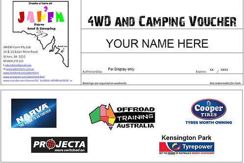 4WD and Camping Voucher