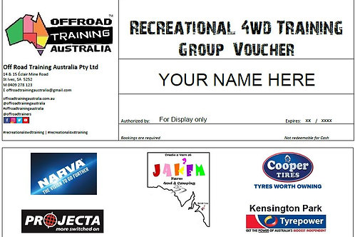 Recreational 4WD Training | Group Voucher