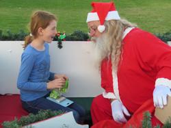 Santa and the kids 1