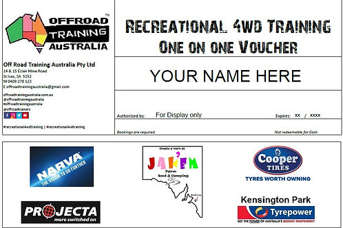 Recreational 4WD Training | One-on-One Voucher
