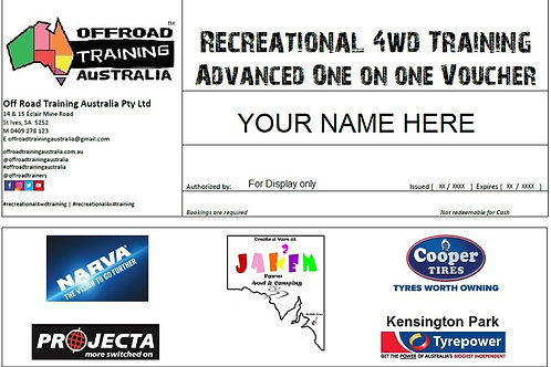 Recreational 4WD Training | Advanced | One-on-One