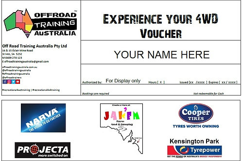 Experience Your 4WD Voucher