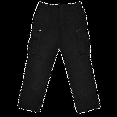 Classic Cargo Trousers Black