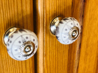 The Hayloft, The Old Mill Holiday Cottages, detail photo of wardrobe handles