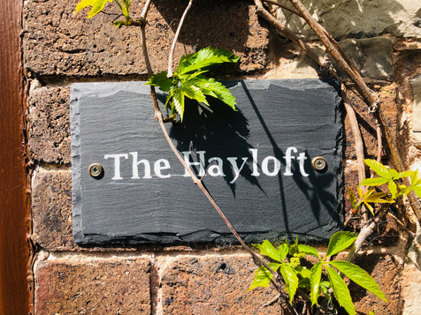 The Hayloft - Sign, The Old Mill Holiday Cottages, North Wales