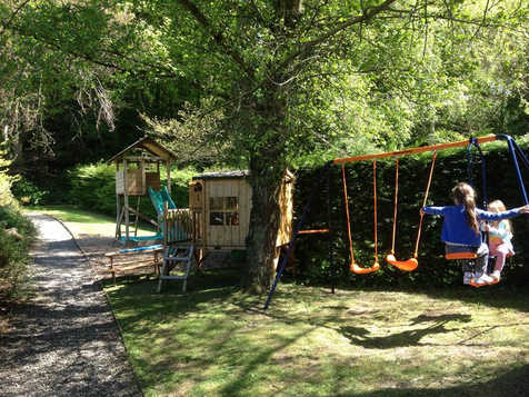 The Old Mill Holiday Cottages Play Park.