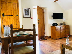 The Hayloft, Dining area, The Old Mill Holiday Cottages, North Wales