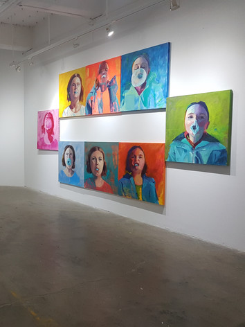 """Installation of Bubble Gum Pop Series and """""""""""