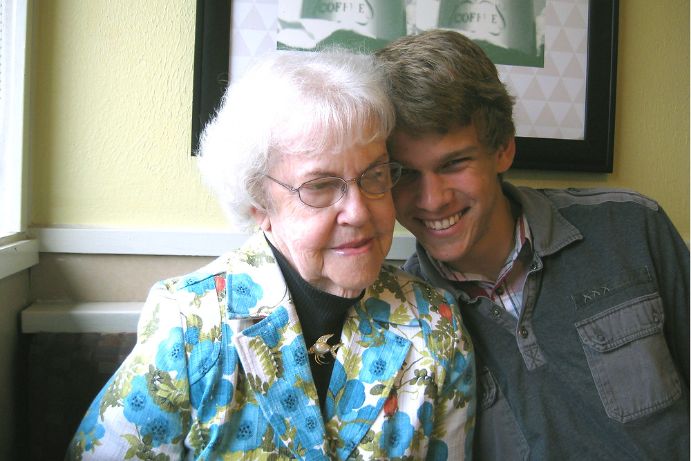 Author Connie Lacy's mother & son