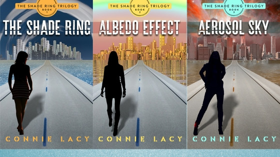 """The Shade Ring Trilogy"" 'by Connie Lacy, Climate fiction"
