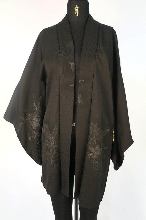 Veste HAORI Noir Vintage