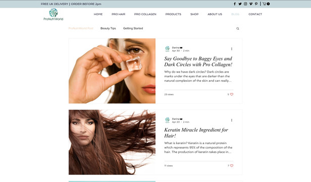 Nutrition and beauty supliments store