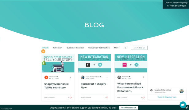 App information & knowledge base