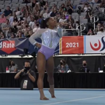 Video:  Simone Biles still dominates at 2021 Gymnastics Championships and making history