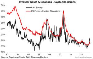 investor cash allocations