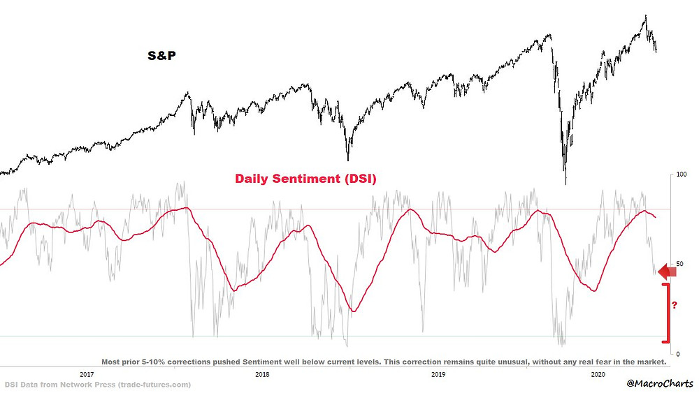 chart of daily investor sentiment