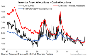 asset allocation chart - cash