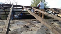 Roof Repair under way.