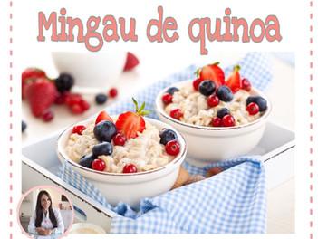Mingau de quinoa com coco