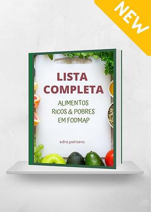 Lista Completa Alimentos LOW & HIGH FODMAP