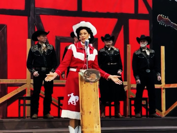 Margaret Belton is back as Patsy Cline and welcomes back live theatre to the East Bay